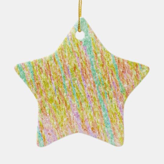 Artistic Rainbow Colour Scribbles Star Ornament