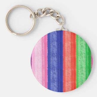 ARTISTIC Rainbow Stripe Keychain