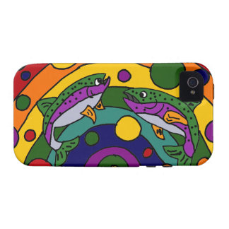 Artistic Rainbow Trout Fish Abstract Case-Mate iPhone 4 Cover