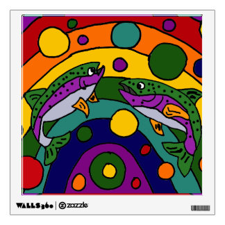 Artistic Rainbow Trout Fish Abstract Wall Decal