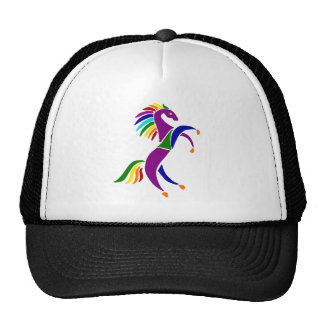 Artistic Rearing Horse Art Abstract Trucker Hat