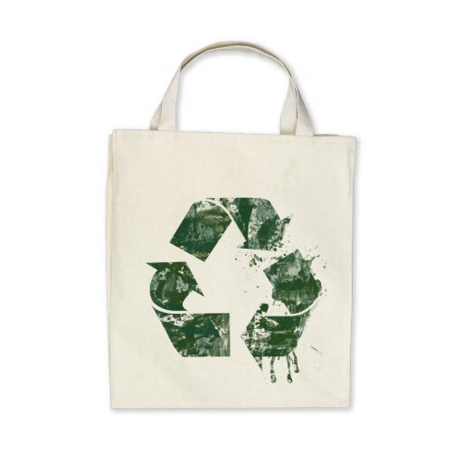 Artistic Recycle Symbol Canvas Bags