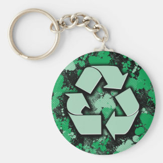 Artistic Recycle Symbol Keychain