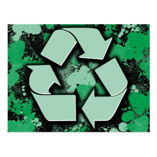 Artistic Recycle Symbol Postcard