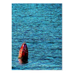 Artistic Red Buoy on the Ocean Postcard