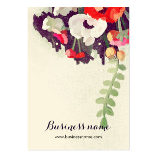 Artistic Red Floral Background Earring Cards
