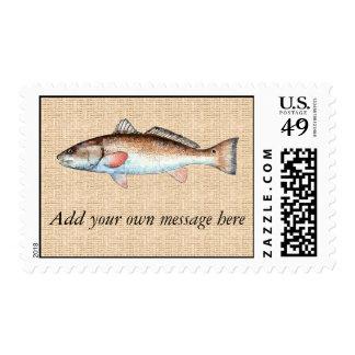 Artistic Redfish Postage Stamp