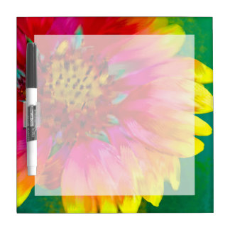Artistic rendition of Indian Blanket flower Dry-Erase Board