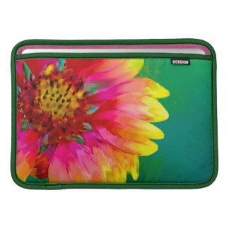 Artistic rendition of Indian Blanket flower MacBook Air Sleeves