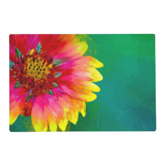 Artistic rendition of Indian Blanket flower Placemat
