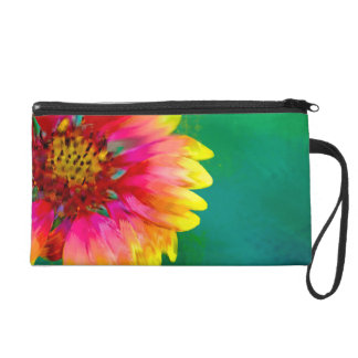 Artistic rendition of Indian Blanket flower Wristlet Purse
