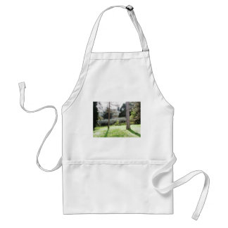 Artistic representation of tuscan countryside adult apron