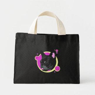 Artistic Retro Frenchie Dog Breed Illsutration Canvas Bag