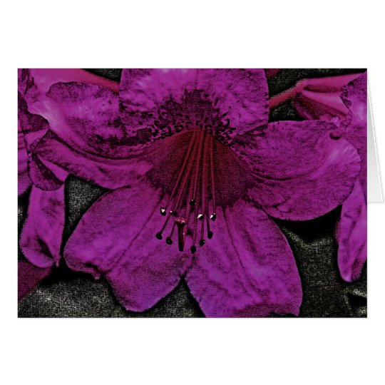 Artistic Rhododendron Card