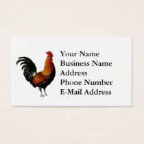 Artistic Rooster Design Business Card
