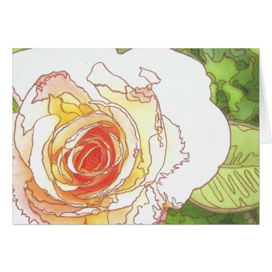Artistic Rose Blank notecard