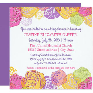 Artistic Roses - Bridal Shower Invitation