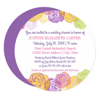 Artistic Roses Circle - Bridal Shower Invitation