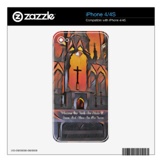 Artistic Sanctuary Cross Inspirational Quote Decal For The iPhone 4