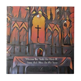 Artistic Sanctuary Cross Inspirational Quote Tile