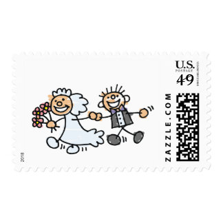 Artistic Save The Date Postage Stamp