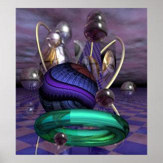 Artistic sci-fi poster Alien worlds
