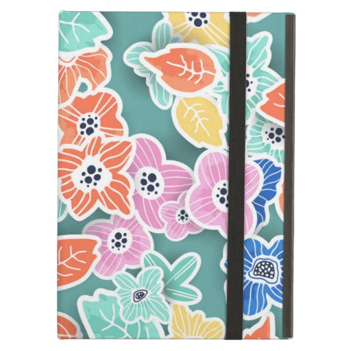 Artistic Seamless Flowers Case For iPad Air