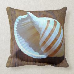 Artistic Seashell Throw Pillow