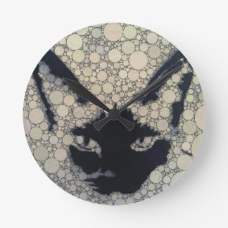 Artistic Siamese Kitty Cat Wall Clock