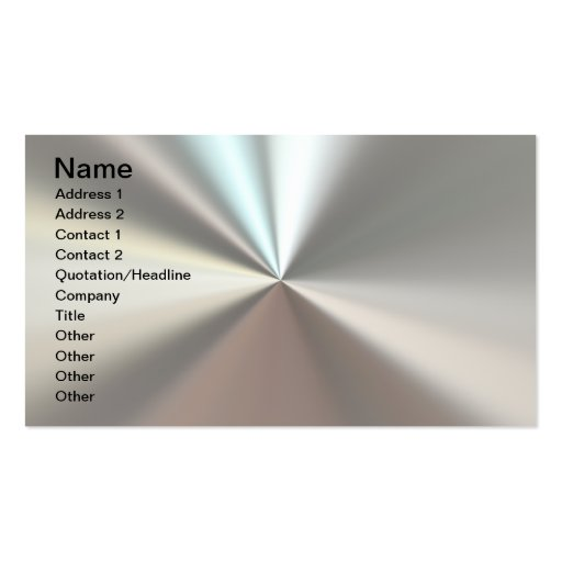 Artistic silver metal business cards