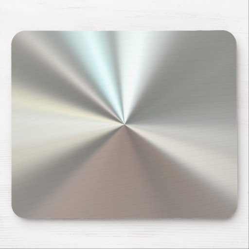 Artistic silver metal mouse pad