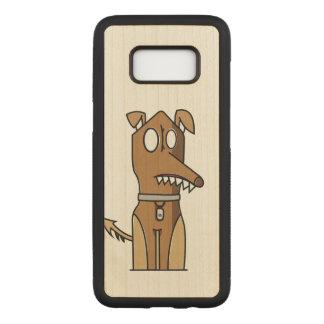 Artistic Sitting Dog Carved Samsung Galaxy S8 Case