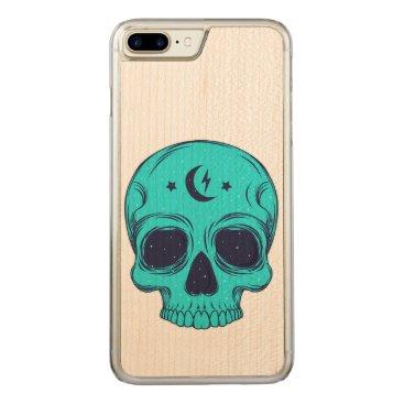 Halloween Themed Artistic Skull Illustration Carved iPhone 7 Plus Case