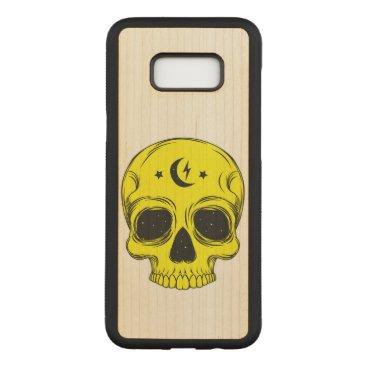 Halloween Themed Artistic Skull Illustration Carved Samsung Galaxy S8  Case