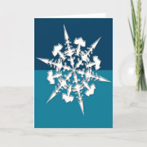Artistic Snowflake Design  Holidays Christmas Holiday Card