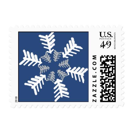 Artistic Snowflakes Postage