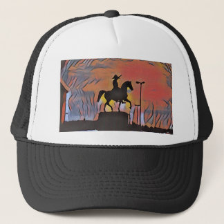 Artistic Soldier On Horse Sillouete Sunset. Trucker Hat