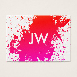 Artistic Spatter Expressive Bright Business Card
