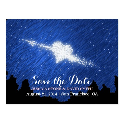 Artistic Starry Night Save the Date Wedding Postcards