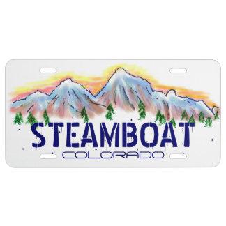Artistic Steamboat Colorado license plate cover