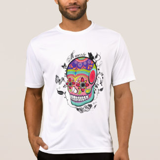 Artistic Suagr Skull Day of the Dead Illustration Tee Shirts