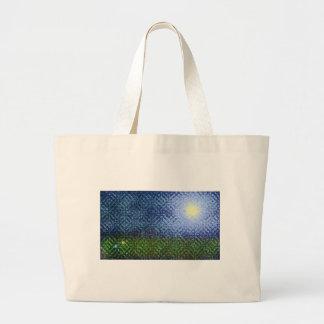 Artistic Summer Lawn Scene Jumbo Tote Bag