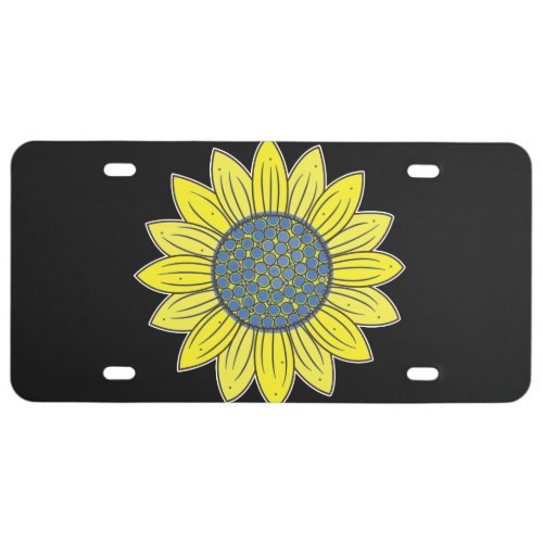 Artistic Sunflower License Plate