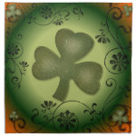 Irish Shamrock Artistic swirls shamrock design cloth napkin