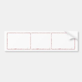 Artistic Template Border Frames: Add yr TXT or IMG Bumper Sticker