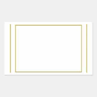 Artistic Template Border Frames: Add yr TXT or IMG Rectangular Sticker