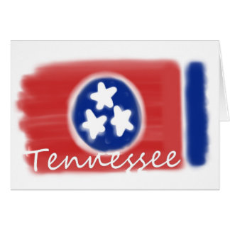 Artistic Tennessee state flag design Card
