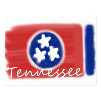 Artistic Tennessee state flag design Postcard