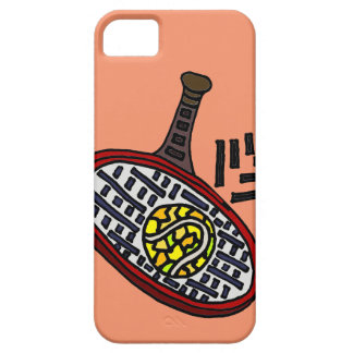 Artistic Tennis Racket and Ball Abstract Art iPhone SE/5/5s Case