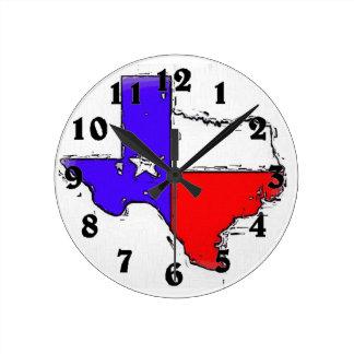 Artistic Texas state flag clock